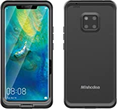 Mishcdea for Huawei Mate 20 Pro Waterproof Case Shockproof Snowproof Dirtproof Full Body Protective Case Only for Huawei Mate 20 Pro (Black)