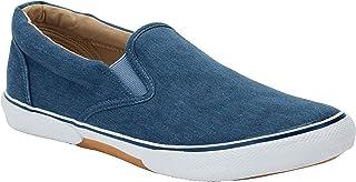 Men's Wide Width Canvas Slip-on Shoes