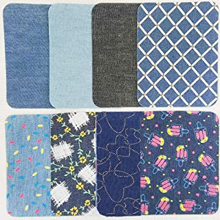 ASPEN BURG Iron On Denim Patches for Clothing Jeans 16 Piece(4.9