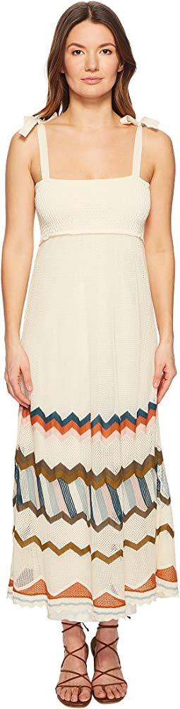 RED VALENTINO - Multicolor Chevron Intarsia Knit Dress