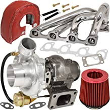 AJP Distributors Stainless Steel Engine Manifold + T3/T4 Turbo Charger Internal Wastegate Oil Cooled + 3
