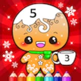 Livro de colorir de Natal por números