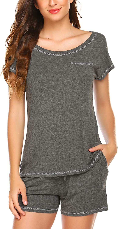 New product type Ekouaer Women Pjs Sets Short Sleeve New product! New type T S Shorts Pajamas Shirt and