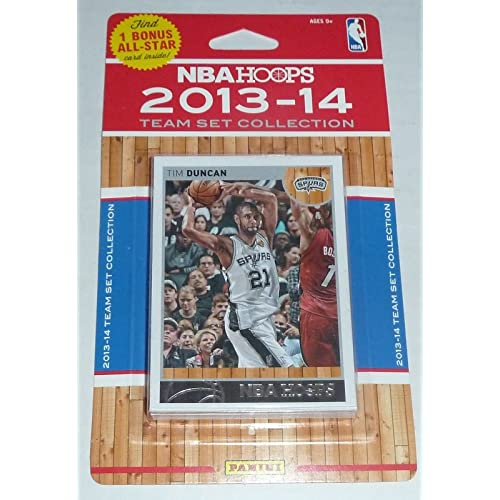 San Antonio Spurs Brand New 2013 2014 Hoops Basketball Factory Sealed 10 Card NBA Licensed Team