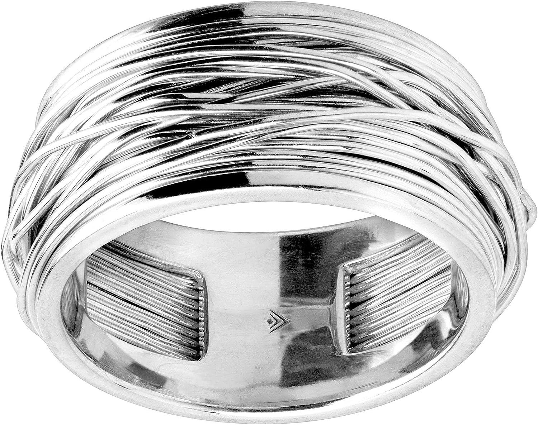 Silpada 'Aegean' Crisscross Colorado Springs Mall Band Silver Ring overseas in Sterling