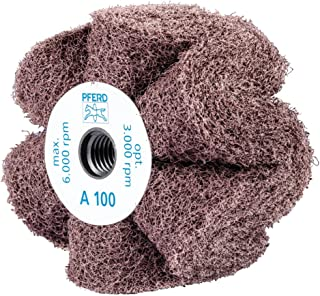 5//8-11 Thread 3100 Maximum RPM 5 Diameter x 4 Width PFERD 46787 POLINOX PNL Non-Woven Abrasive Finishing Drum 180 Grit Aluminum Oxide A