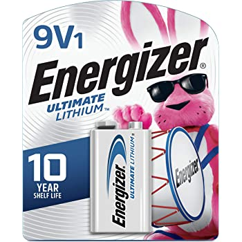Energizer 9V Lithium Batteries, Ultimate Lithium 9 Volt Batteries (1 Battery Count)