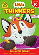 School Zone - Little Thinkers Kindergarten Workbook - 64 Pages, Ages 5 to 6, Alphabet, Counting, Rhyming, Sequencing, Prob...