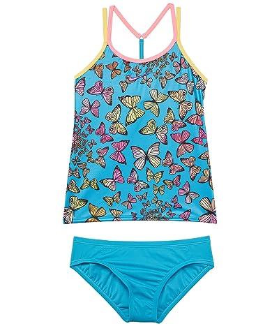 Nike Kids Butterfly T Cross-Back Tankini Set (Little Kids/Big Kids) Girl