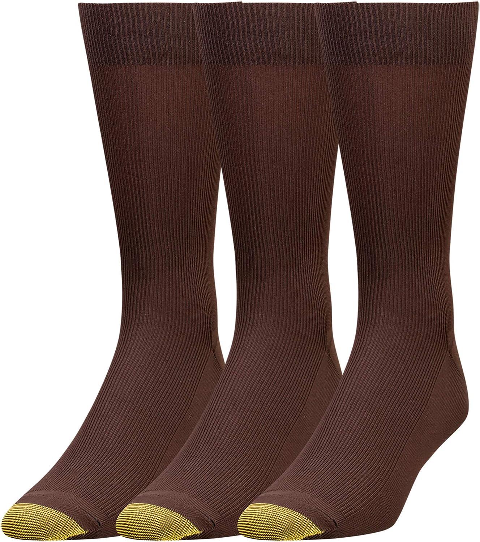 Opening large release sale 70% OFF Outlet Gold Toe mens Metropolitan Socks 3 Dress Pairs
