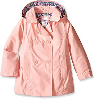Girls' Solid Poly Trench Coat