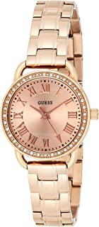 Guess Womens Quartz Watch, Analog Display and Stainless Steel Strap W0837L3