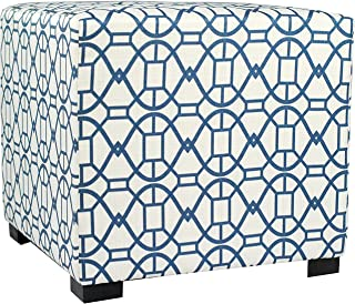 """MJL Furniture Designs Square Tufted Ottoman with a Contemporary Noah Design and Upholstered 4 Button Top Tuft, 19"""" x 19"""" x..."""
