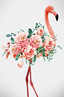 SEVEN WALL ARTS -Canvas Wall Art Nordic Wall Pictures Graceful Flamingo & Blossom Giclee Print on Canvas Stretched Living Room Bedroom Ready to Hang 16x24InchInch
