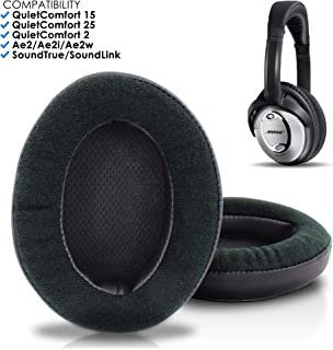 Wicked Cushions Bose Headphones Replacement Ear Pads - Compatible with QC15 / QuietComfort 15 / Ae2 / Ae2i / Ae2w / SoundTrue and SoundLink Over-Ear   Velour