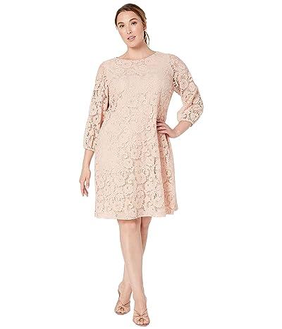 LAUREN Ralph Lauren Plus Size Adiva Dress (Rose Dust) Women