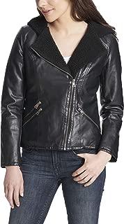 Women's Assymetrical Sherpa-Lined Faux-Fur Jacket