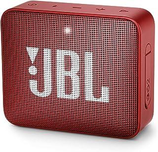 JBL Go 2 Bluetooth Speaker - Red, 4.3 x 4.5 x 1.5