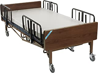 Drive Medical Heavy Duty Bariatric Hospital Bed, Brown, T Rails and Mattress, 54 Inch