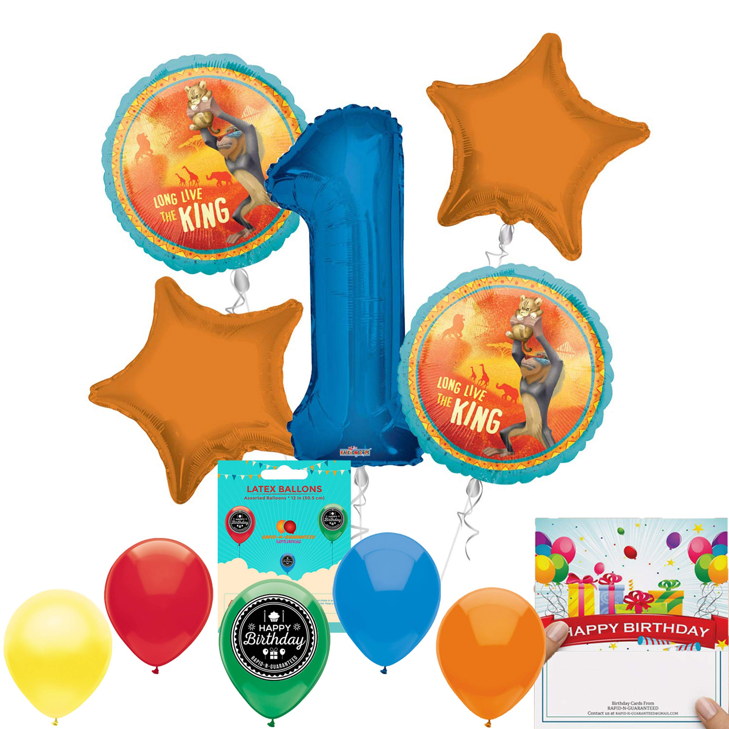 Lion Guard Party Supplies 5th Birthday Balloon Bouquet Decorations
