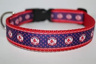 Boston Red Sox | Baseball Dog Collar | Red Sox Dog Collar | MLB Dog Collar | Adjustable Dog Collar | Sport Dog Collars | Dogs