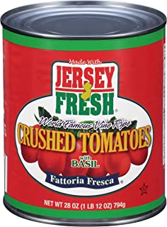 Jersey Fresh Crushed Tomatoes with Basil,  Fattoria Fresca, 28 Ounce (Pack of 12)