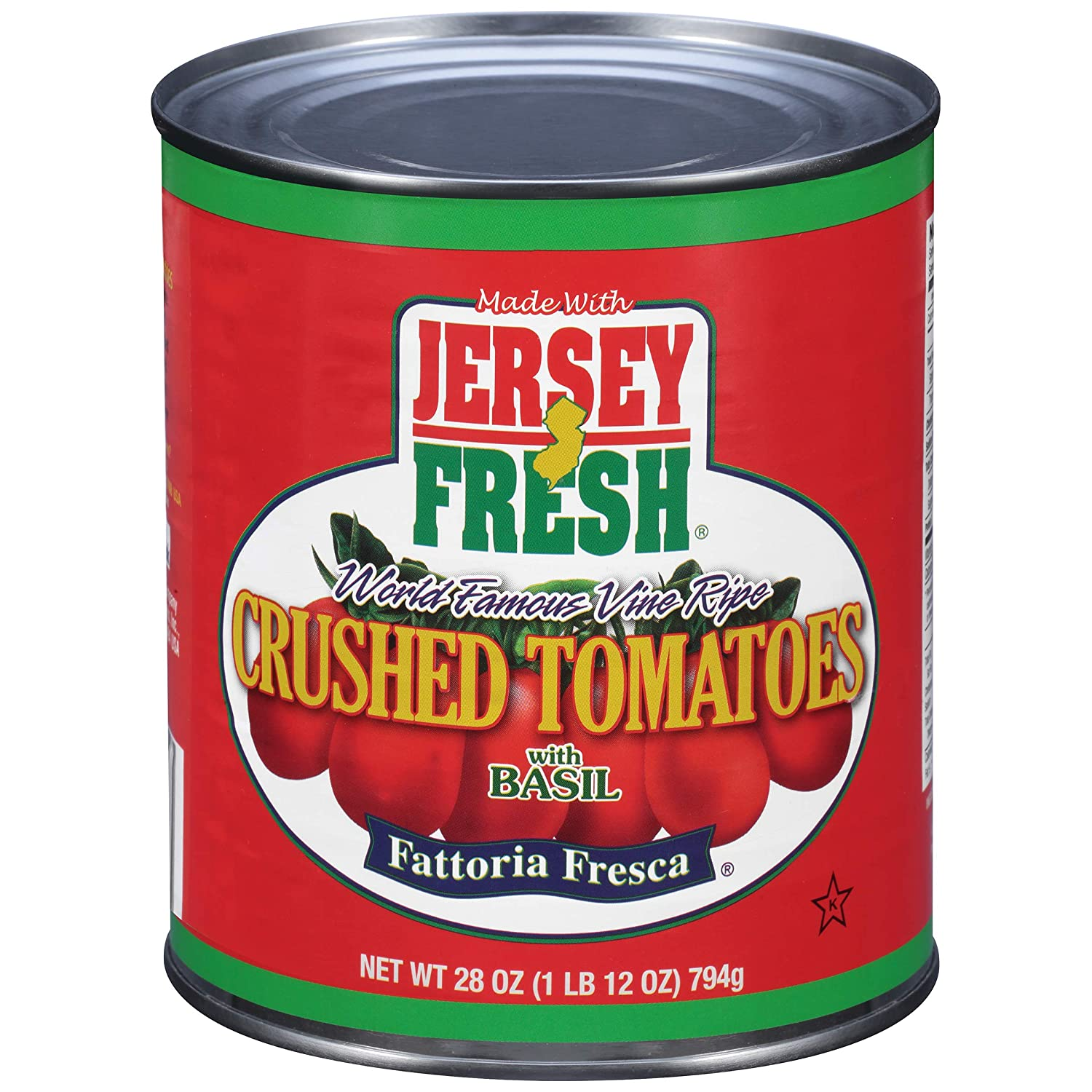 Jersey Fresh Online limited product Crushed Tomatoes with Max 74% OFF Fattoria Ou Basil 28 Fresca