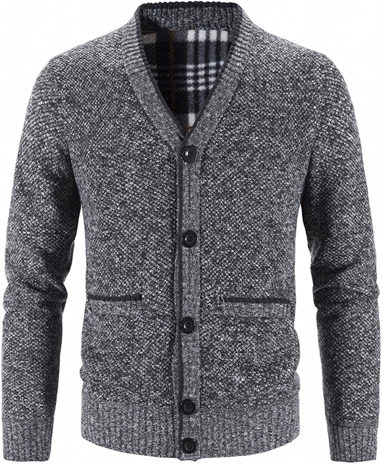 Mens Casual Lowest price challenge Button Down Cardigan Oakland Mall Sweaters Waffle Knit Slim S Fit