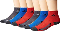 Vertical Stripe Quarter Socks 6-Pack (Toddler/Little Kid/Big Kid/Adult)