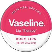 Vaseline Lip Therapy Lip Balm Tin, Rosy Lips, 0.6 Ounce