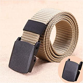 Belt With Plastic Buckle Adjustable Outdoor Army Belts Breathable Lightweight 120cm