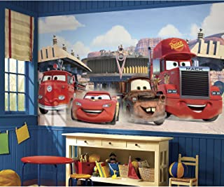 RoomMates Disney Pixar Cars Friends To The Finish Removable Wall Mural - 10.5 feet X 6 feet