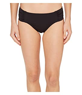 Pearl High-Waist Side-Shirred Bikini Bottom