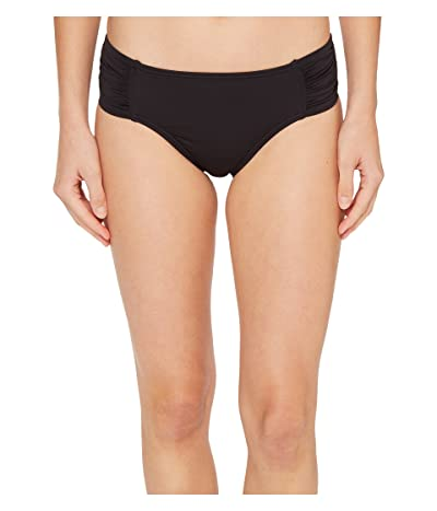 Tommy Bahama Pearl High-Waist Side-Shirred Bikini Bottom (Black) Women