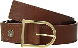 Smooth Leather Belt with Signature