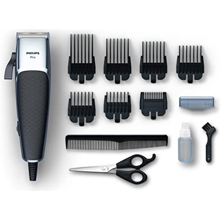 Philips Serie 5000 HC5100/15 - Cortapelos profesional, ajuste nivelador pulgar, 7 peines, cable extralargo