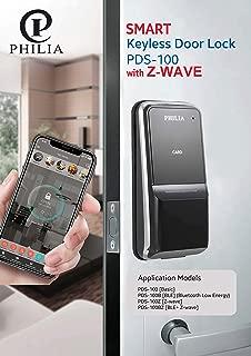 Philia PDS-100Z Smart Keyless Door Lock with Z-Wave (Compatible with Alexa, Smartthings), Digital Keypad Password, RFID, Door Locks for Office Home