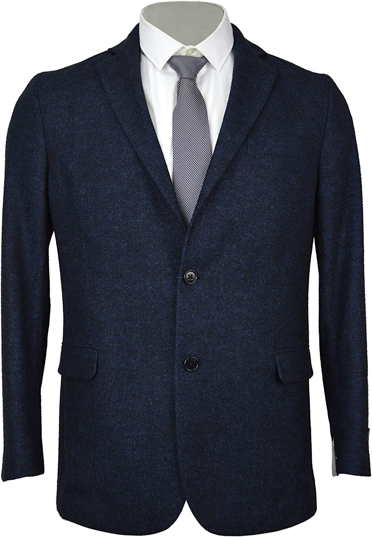 Brooks Brothers Men's Regent Fit 2 Button Wool Blend The Soft Jacket Blazer Dark Blue