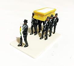 Meme Homens do Caixão Miniatura - 7 Pallbearers + Caixão + Base - 3cm