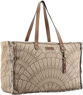 Sixtease Kadota Upcycled Canvas & Genuine Leather Weekender Bag SB-2144