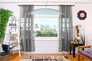 All American Collection Doli Sheer Curtains | Two 54