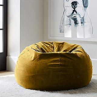 Regal In House relaxing bean bag velvet Large -Dark Camel
