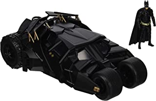 Jada Toys DC Comics 2008 The Dark Knight Batmobile with Batman Figure; 1:24 Scale Metals Die-Cast Collectible Vehicle (Renewed)