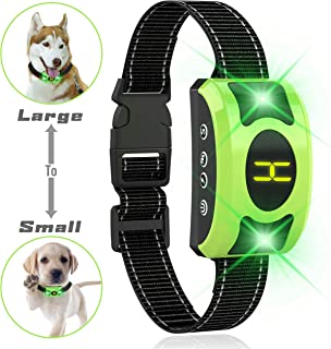 Valoinus Dog Bark Collar Adjustable Sensitivity and Intensity Levels-Dual Anti-Barking Modes-Rechargeable/Rainproof -No Barking Control Dog Shock Collar for Small Medium Large Dog (Black)