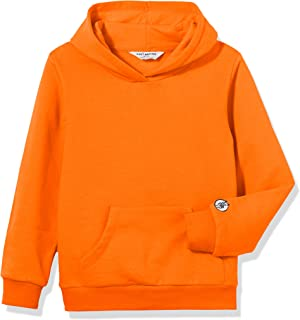 Kid Nation Kids' Solid Fleece Hooded Pullover Sweatshirt for Boys or Girls
