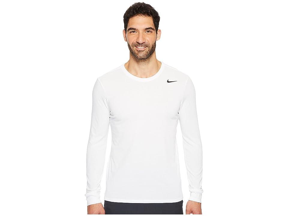 Nike Dry Training Long Sleeve T-Shirt (White/White/Black) Men