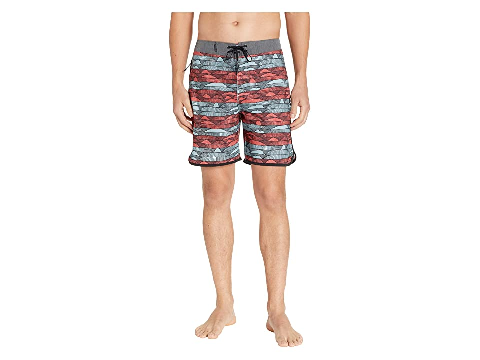 Hurley Phantom Lines 18 Boardshorts (Aurora Green) Men