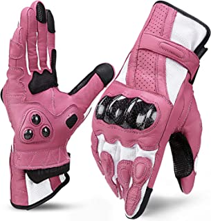 womens pink motorcycle gloves