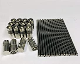 Elgin Industries Flat Tappet Lifters & Pushrods compatible with 1965-2001 Ford V8 Small Block 289 302 (Push Rod Length 6.804