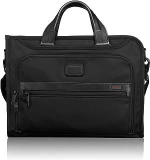 TUMI - Alpha 2 Slim Deluxe Portfolio Bag - Organizer Briefcase for Men and Women - Black